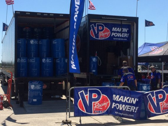 Racecar fuel supply at Sebring Raceway