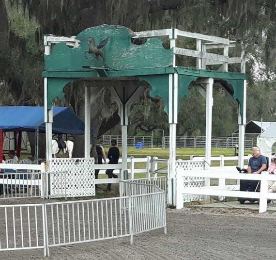 Arena entrance at Lipizzan Stallion facility in Myakka City, near Sebring FL.