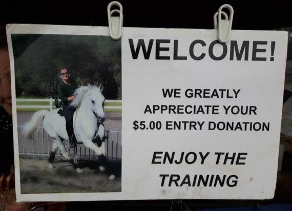 Gate fee at Lipizzaner ranch Myakka City Fl